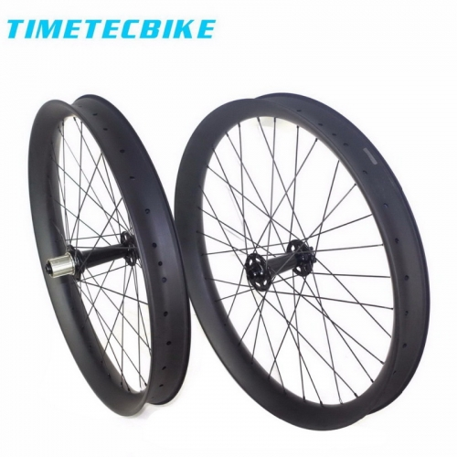 26er fat bike carbon wheels 65mm width