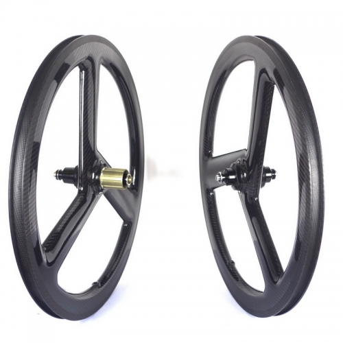 451 tri spoke carbon wheels 20 inch carbon road wheels disc brake