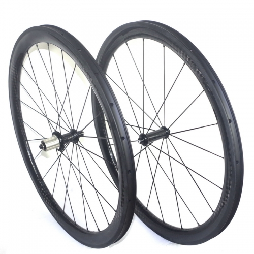 Tubeless road bike carbon wheelset 28mm width 30mm 35mm 45mm 55mm profiles
