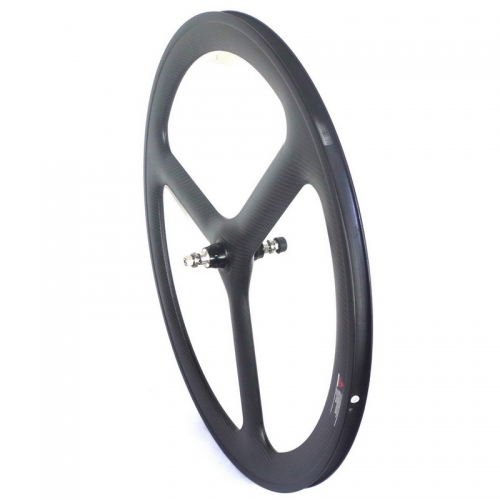 Tri spoke carbon track wheels fixed gear wheels 50mm profile