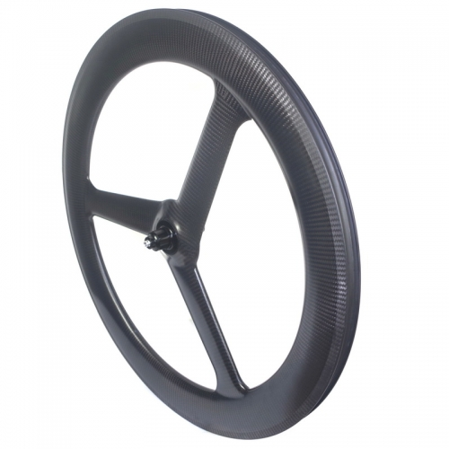 Light weight Tubeless tri spoke carbon wheels 27mm width tt bike wheels