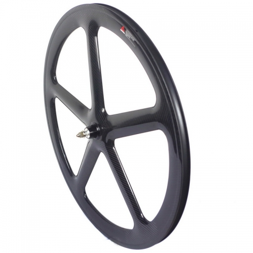 5 spoke track carbon wheels clincher or tubular wheels