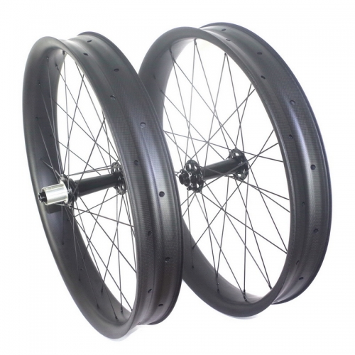 carbon fat bike wheels 100mm width through axle 177mm 190mm 197mm  or quick release hub