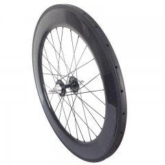 Track bike carbon wheels 82mm clincher wheelset tubular wheelset