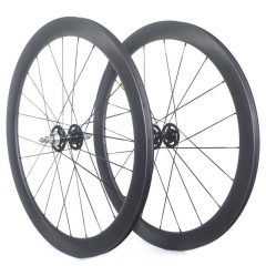 50mm fixed gear carbon wheels clincher or tubular