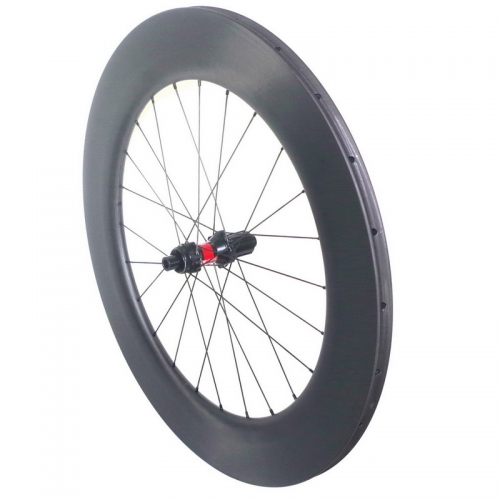 Carbon road wheels disc brake tubular tubeless 88mm DT240s