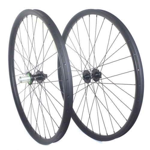29er am carbon wheelset 35mm width 25mm depth tubless mtb wheels