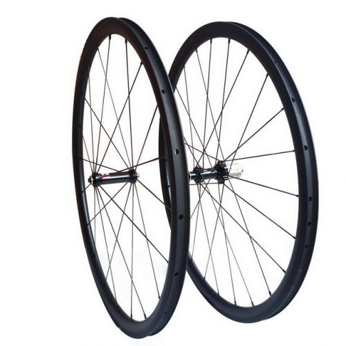 Carbon road bike wheels 30mm profile 25mm width novatec carbon hub